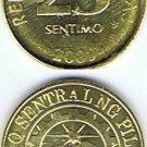 Philippines 25 Centavos 2009 UNC 3 Coins UNC-AU