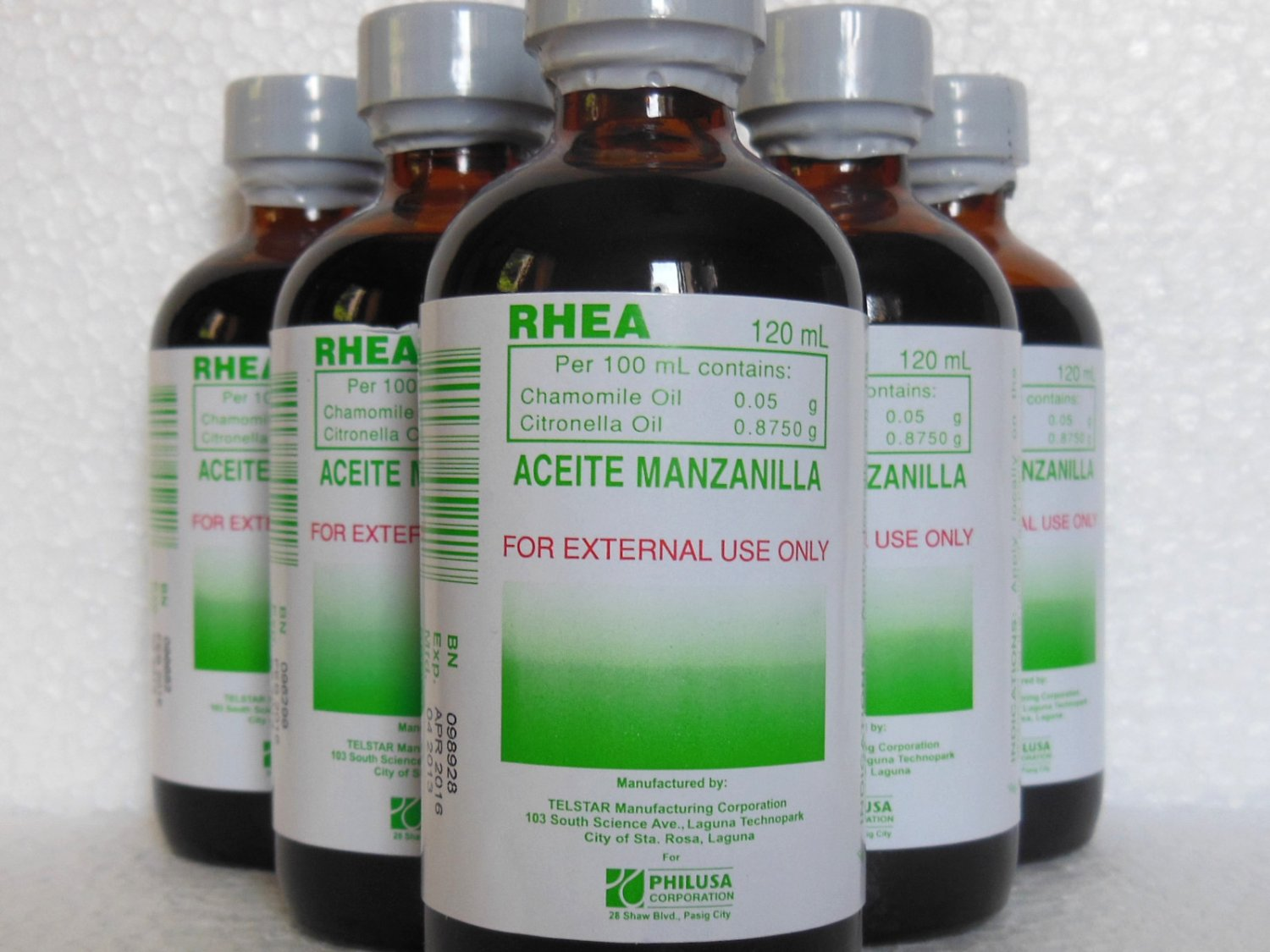 2 Large 120ml Bottles Aceite De Manzanilla Rhea For Child Gas Pains Colic Md Info