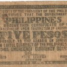 Philippines S136 (a) Five Peso Note Emergency Issue Rare Serial #271