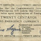 Philippines Mindanao 1945 Twenty Centavos S533 Super RARE Serial 18,223 G