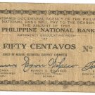 Philippines 1942 50 Centavos Misamis Occidental S575 (a) XF Serial is 40,217