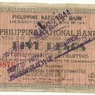 Philippines Negros S626 5 Pesos Philippines 1941 2nd Issue Note C/S SaySay Serial 79,876 H Plate