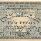 Philippines Iloilo S306 2 Pesos 1941 WW2 Pre Surrender Serial is 731119