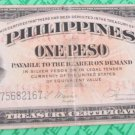 Central Bank Of The Philippines1949 ND 1P Provisional Issue Victory Series No 66 Serial F75682167