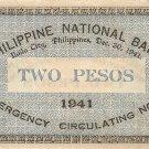 Philippine Iloilo 1941 2 Pesos Note S306 Range 1 to 942,000 Serial 731115