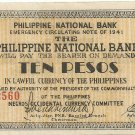 Philippines Negro S627 (b) 10 Pesos 1941 WW2 Initialed gn 20,001 to 104,500 Notes Serial is 52,560