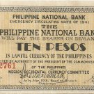 Philippines Negro S627 (b) 10 Pesos 1941 WW2 Initialed Serial 20,001 to 104,500 Serial is 52,761