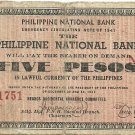 Philippines S617 1941 Negros Occidental 5 Pesos Note TYPE III RARE Scarce gn (#21,751) Plate C