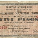Philippines S617 1941 Negros Occidental 5 Pesos Note TYPE III RARE Scarce gn (#22,169) Plate C
