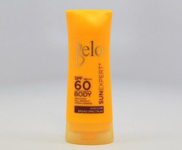 BELO Sun Expert Body Shield SPF60 Moisturizing Sunscreen UVA-UVB Broad Spectrum