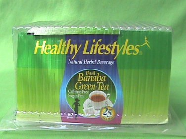 Healthy Lifestyles Basil Banaba Green Tea Slimmer Body and Lower Blood Sugar x25