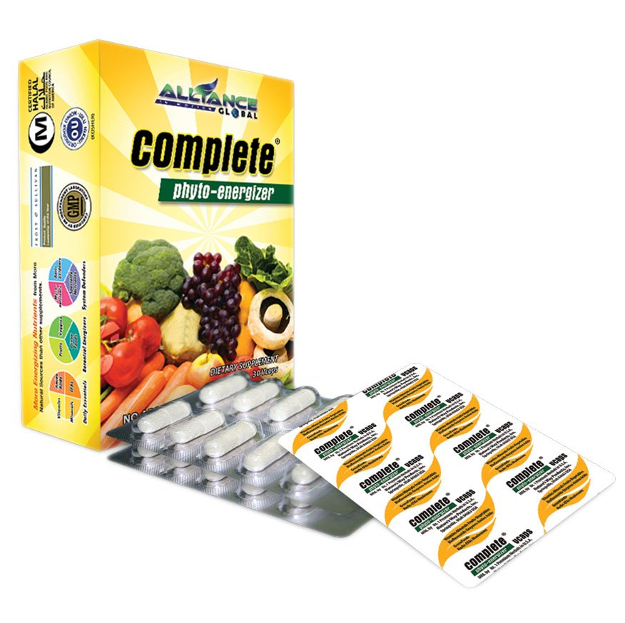 Complete Phyto-Energizer Dietary/Food Supplement 90 Capsules FREE SHIPPING
