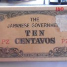 Japanese Invasion Occupation Money P104 10 Centavos Bundle 100 Uncirculated PZ FREE Shipping