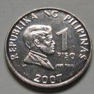 Jose Rizal Philippines 2007 1 Peso Coin KM# 269a Uncirculated