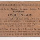 Philippines 1943 Mindanao 2 Pesos Emergency 1st Issue S486 (c) OTEYZA Signature