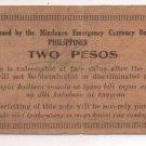 Philippines 1943 Mindanao 2 Pesos Emergency 1st Issue S486 (c) OTEYZA Signature