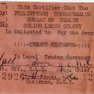 Philippines Culion Leper Colony 20c Centavos WW2 Emergency Currency Note S253