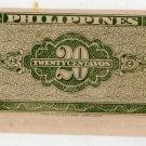 Philippines P130b ND English Series 1949 20 Centavos  Garcia & Cuaderno Miscut