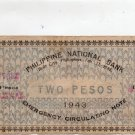 Philippines Iloilo 1943 2P Note S327 Only 37,000 Exist Villalon Printing RARE