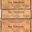 Philippines 1942 Five 10 Centavos Misamis Occidental S573 XF INVERTED BACK Lot