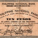 PHILIPPINES Iloilo 1941 10 Pesos S308 Pre Surrender Issue Only 10K Printed #1463