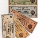 X5 Philippines Negros Occidental Banknotes 1942 WW2 Emergency Lot Collection AU