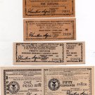 Philippines 1943 Mindanao Emergency Banknotes WWII2 Wholesale Lot 5 10 20 50c 1P