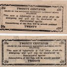 Philippines S513 1944 Mindanao 20 Centavos Emergency Banknote CV $15 in XF ERROR