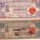 WW2 Philippines Negros Note S647AB  4-15-1944 C/S SaySay Uncirculated Notes XF