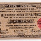 Philippines Negros Emergency Banknote S648b 5 Pesos Bais Paper Uncirculated UNC