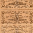 Philippines S578 a b c Misamis Occidental 5 Pesos Banknotes 3 Different C/S's XF