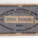 Philippine Iloilo Emergency 1941 2 Pesos Banknote S306  C/S ALLEN Northern Samar