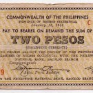 Philippines Negros Emergency S636 2P Couponized Check Issue 1/13/1942 Large 2