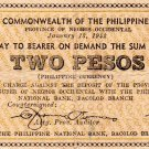 Philippines Negros Emergency S639 2P Couponized Check Issue 1/13/1942 Small 2