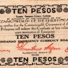 Philippines 1944 Mindanao 10 Pesos Emergency Banknote S527d Series S Only 17k