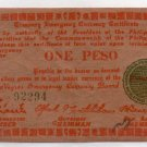 Philippines Commonwealth Seal WW2 Negros S672  One Peso Emergency Banknote AU