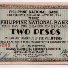 Philippines 1941 Negros Occidental Two Pesos Banknote S625 AU / Uncirculated
