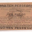 Philippines 1943 Mindanao 10 Pesos Emergency 1st Issue S488 C/S CUERPO Signature
