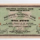 Philippines 1943 Iloilo 1P S305  Pre Surrender Issue PNB Uncirculated Note Crisp