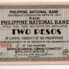 Philippines Negros S625 2Pesos 1941 2nd Issue Note UNCIRCULATED Stiff, NICE