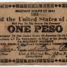 Philippines WW2 7th Military District Issue S715 1 Peso Banknote On Paper Bag