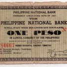 Philippines 1941 Negros Occidental One Peso Banknote S612c Circulated XF