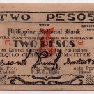 Philippines 1944 Iloilo 2P Emergency Circulating Banknote S340 WW2 PNB Dialosa
