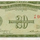 Philippines P130 ND English Series Note 1949 20 Centavos Magsaysay Cuaderno AU