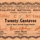 Philippines MISAMIS OCCIDENTAL Banknote 20c 1942  S574 WW2 Emergency Banknote