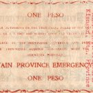 Philippines MOUNTAIN PROVINCE 1 Pesos 1942 S595a Emergency Note Hand Signed C/S