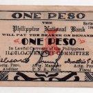 Philippines 1944 Iloilo 1P Emergency Circulating Note S339 WW2 PNB Dialosa AU