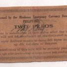 Philippines 1943 Mindanao 2 Pesos Emergency 1st Issue S486 (d) CUERPO Signature