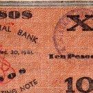 PHILIPPINES Iloilo 1941 10 Pesos S309 Pre Surrender C/S CATARMAN NORTHERN SAMAR