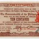 Philippines 1942 Negros Occidental 10 Centavos Banknote S643 Ramos Signed WWII